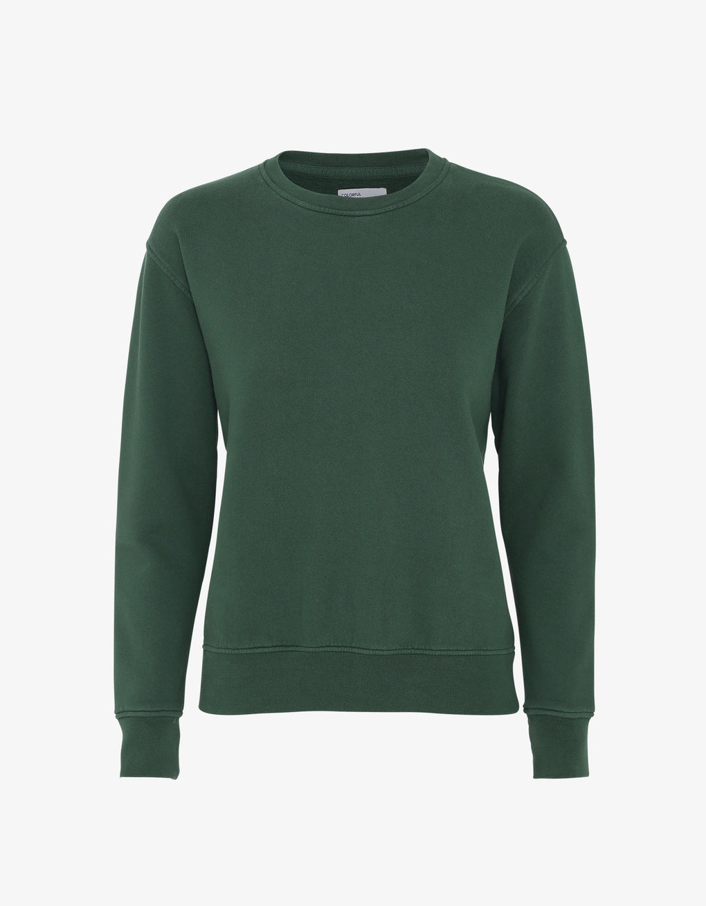 Colorful Standard Women Classic Organic Crew Women Crewneck Emerald Green
