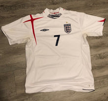 Load image into Gallery viewer, David Beckham England World Cup Jersey, M