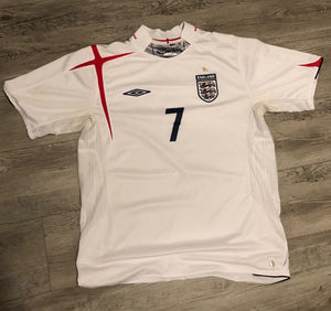 David Beckham England World Cup Jersey, M