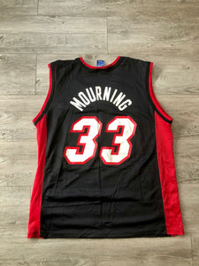 Alonzo Mourning Miami Heat Champion Jersey, M