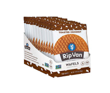 Load image into Gallery viewer, Rip Van Wafels Non-GMO Snack Wafels, Chocolate Brownie, 12 Count, 13.92 OZ, low calorie & low sugar (PACKAGING MAY VARY)