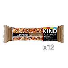 Load image into Gallery viewer, KIND Bars, Madagascar Vanilla Almond, Gluten Free, Low Sugar, 1.4 Ounce Bars, 12 Count (Packaging May Vary):
