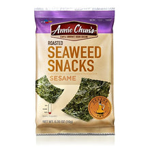 Load image into Gallery viewer, Annie Chun's Roasted Seaweed Snacks, Sesame, 0.35-ounce (Pack of 12), America's #1 Selling Seaweed Snacks