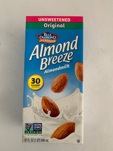 Almond Breeze Unsweetened Almond Milk Quart