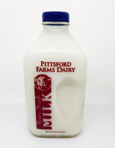 Pittsford Farms Dairy Half Gallon Glass Skim Milk
