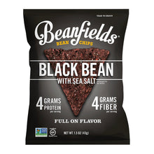 Load image into Gallery viewer, Beanfields Bean Chips, High Protein and Fiber, 4 Flavor Variety Pack: Nacho, Jalapeno Nacho, Sea Salt, Pico de Gallo, 1.5 Ounce (24 Count)