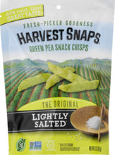 Load image into Gallery viewer, Harvest Snaps Green Pea Snack Crisps, Lightly Salted, 3.3-Ounce Bag (Pack of 12), Deliciously baked and crunchy veggie snacks with plant protein and fiber