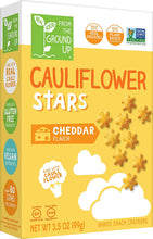 Load image into Gallery viewer, Real Food From the Ground Up Cauliflower Crackers - 6 Pack (Cheddar, Crackers)