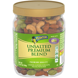 Planters Deluxe Unsalted Mixed Nuts (27 oz Canister)