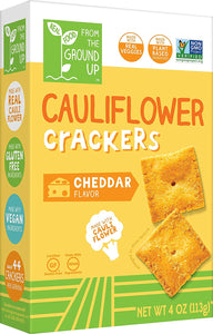 Real Food From the Ground Up Cauliflower Crackers - 6 Pack (Cheddar, Crackers)