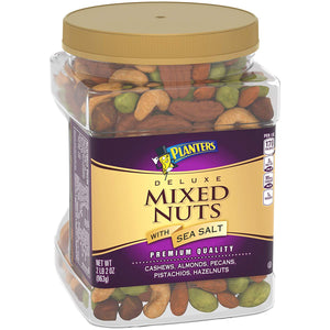 Planters Deluxe Salted Mixed Nuts (34oz Jar)
