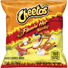 Load image into Gallery viewer, Cheetos Crunchy Flamin' Hot Cheese Flavored Snacks, 1 Ounce (Pack of 40)