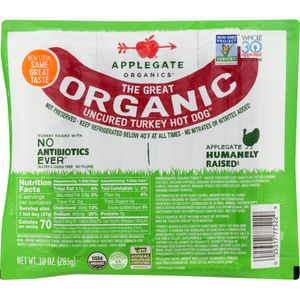 Applegate Organic Uncured Turkey Hot Dogs