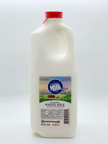 Manhattan Milk Whole Milk Creamline Grass-Fed Half Gallon
