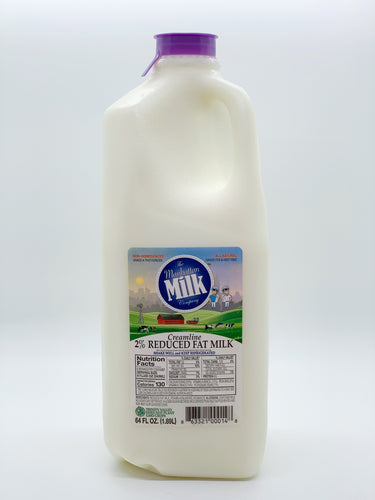 Manhattan Milk 2% Creamline Grass-Fed Half Gallon