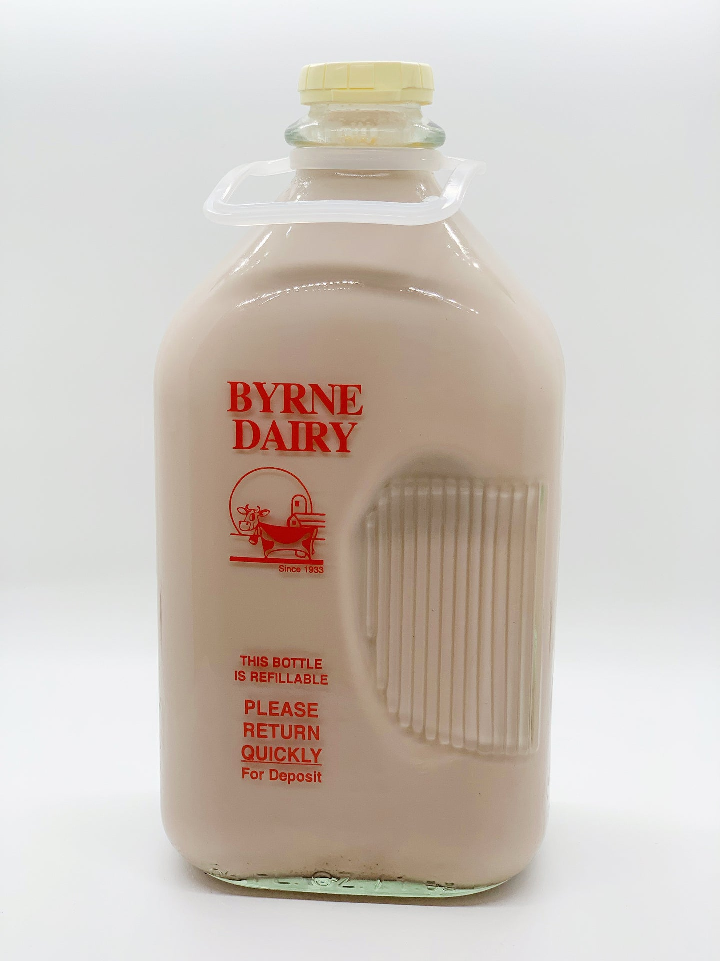 Byrne Farm Fresh Glass Milk Half Gallon Chocolate