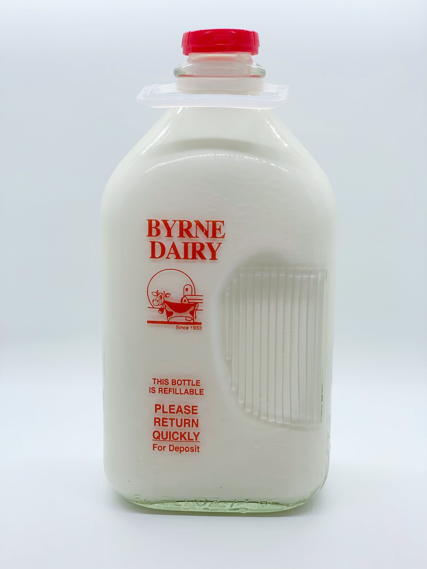 Byrne Farm Fresh Glass Milk Half Gallon Whole