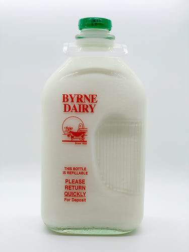 Byrne Farm Fresh Glass Milk Half Gallon 2%