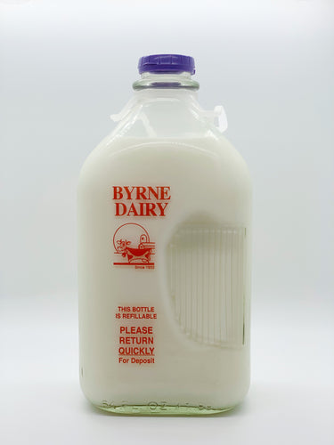 Byrne Farm Fresh Glass Milk Half Gallon 1%