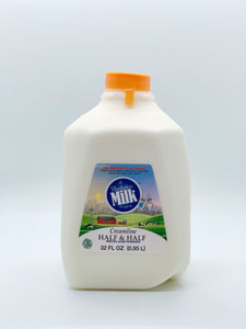 Manhattan Milk Half and Half Creamline Grass-Fed Quart