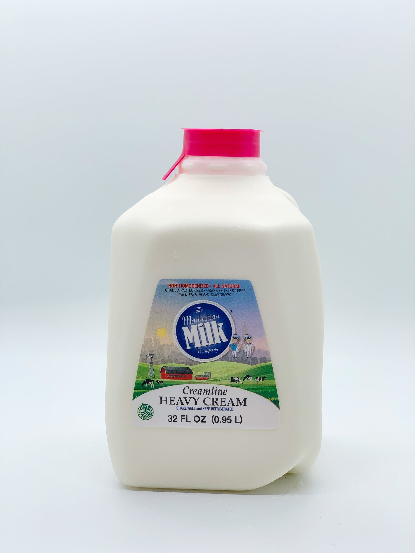 Manhattan Milk Heavy Cream Creamline Grass-Fed Quart