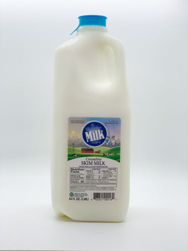 Manhattan Milk Skim Milk Creamline Grass-Fed Half Gallon