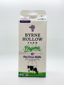 Byrne Hollow Skim Organic Milk