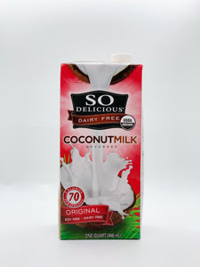 So Delicious Organic Coconut Milk Half Gallon