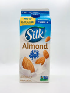 Silk Almond Milk Vanilla Half Gallon