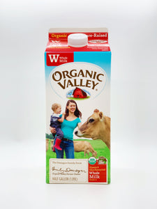 Organic Valley Half Gallon Whole Milk