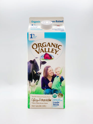 Organic Valley Half Gallon 1%