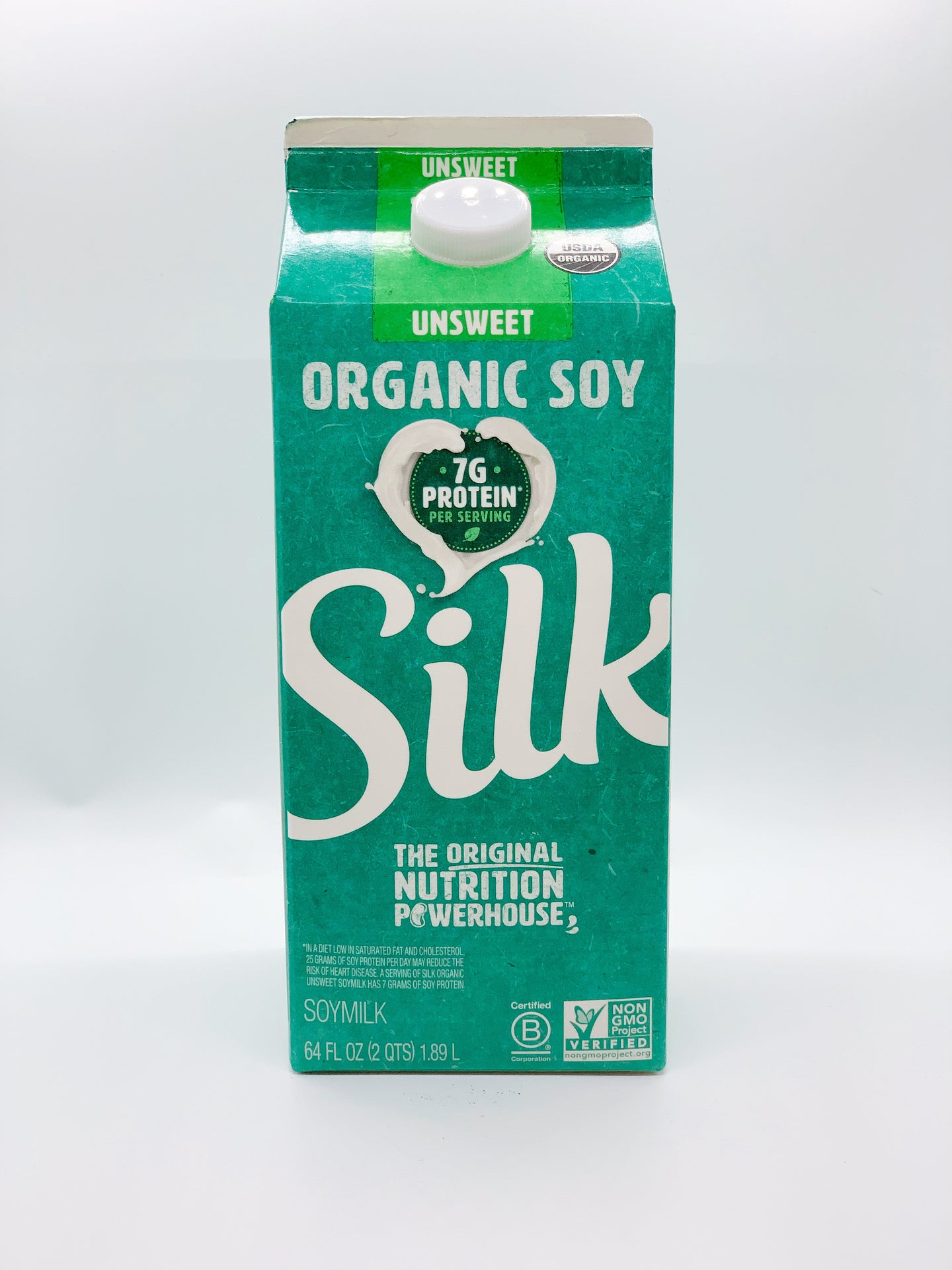 Silk Unsweetened Organic Soy Milk Half Gallon