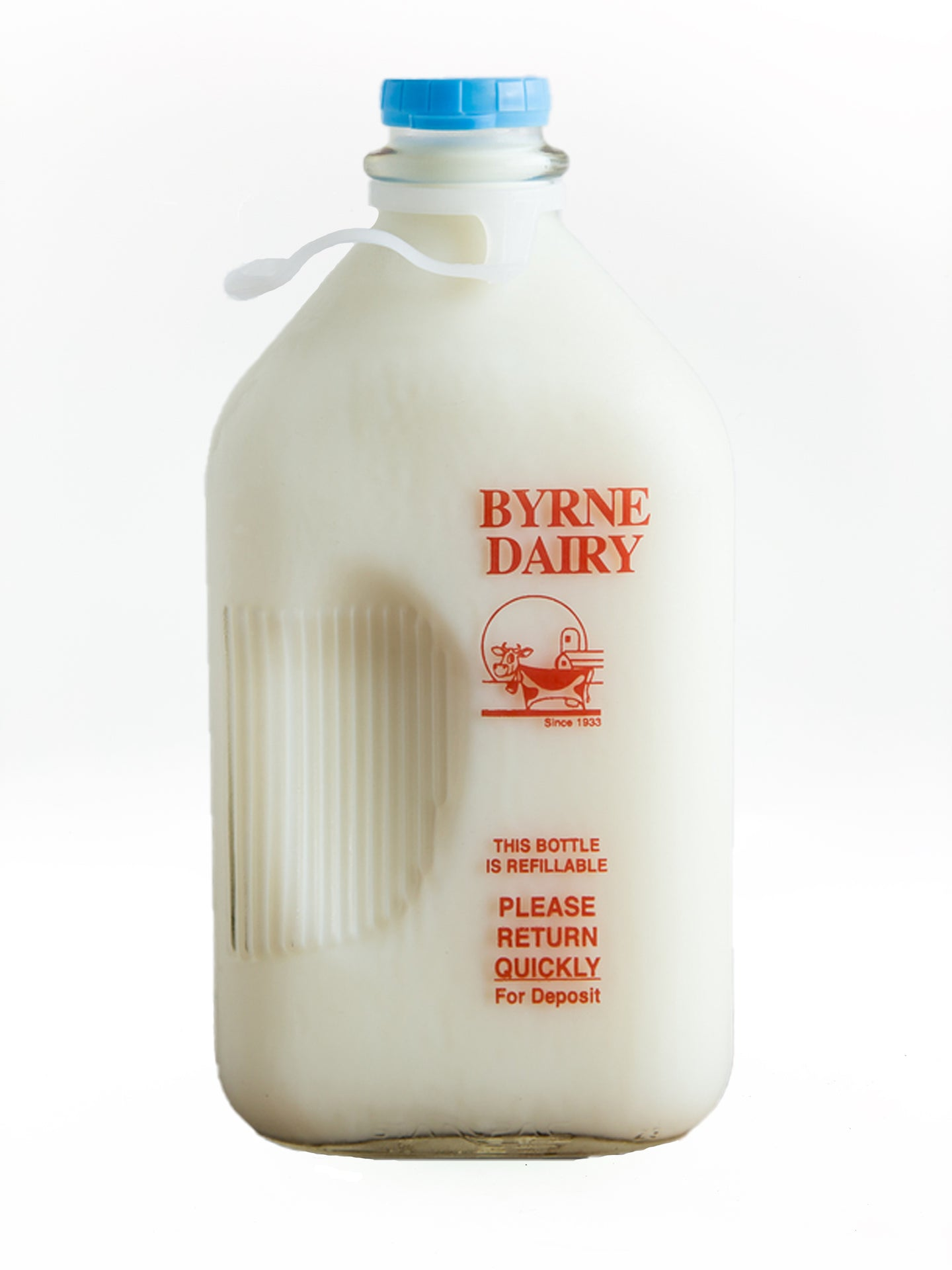 Byrne Farm Fresh Glass Milk Half Gallon Skim