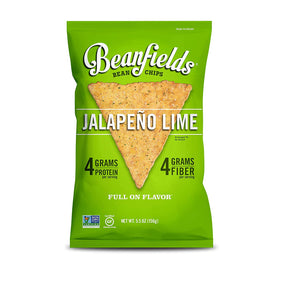 Beanfields Bean Chips, High Protein and Fiber, 4 Flavor Variety Pack: Nacho, Jalapeno Nacho, Sea Salt, Pico de Gallo, 1.5 Ounce (24 Count)