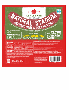 Applegate Natural Stadium Hot Dogs