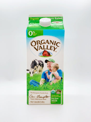 Organic Valley Half Gallon Skim