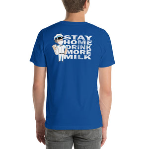 Stay home back print new logo tee
