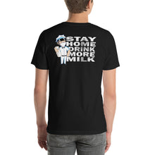 Load image into Gallery viewer, Stay home back print new logo tee