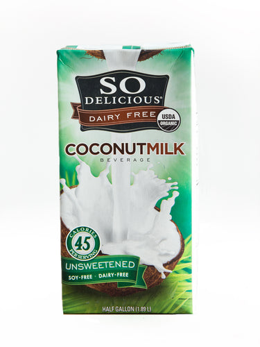 So Delicious Coconut Milk Unsweetened Half Gallon Organic