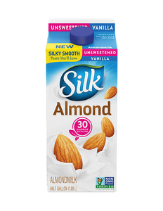 Silk Unsweetened Almond Milk Vanilla Half Gallon