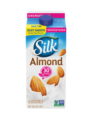 Silk Unsweetened Almond Milk Half Gallon