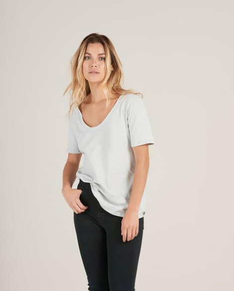 Organic Cotton Scoop Neck Tee