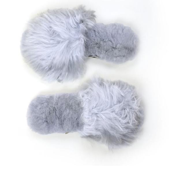 Ariana Bohling Slippers Suri Grey