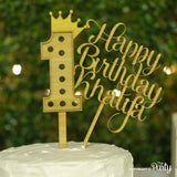 Customised Happy Birthday cake topper -  The Party