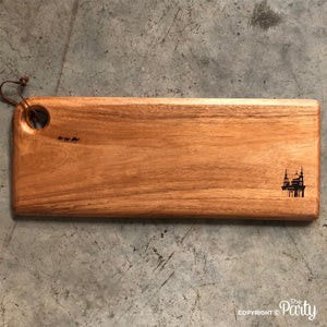 Engraved wooden board no.8