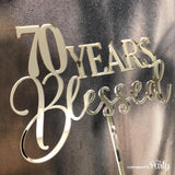 Generic 70 years blessed cake topper -  The Party