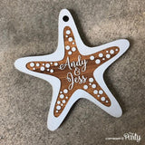Customised starfish gift tags -  The Party