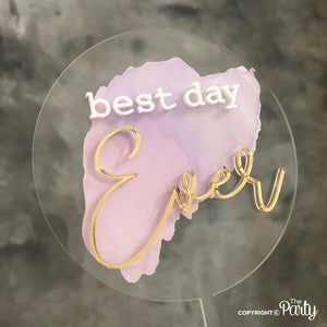 Generic Best day ever cake topper -  The Party