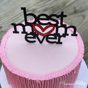 Generic Best mom ever cake topper -  The Party