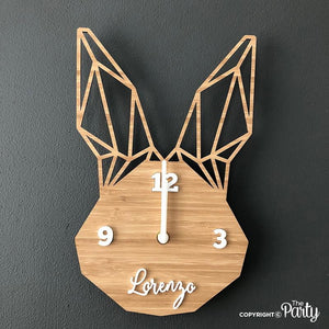 Customised bunny clock -  The Party